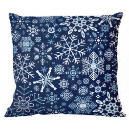 Stickpackung - Kissen - Schneeflocken