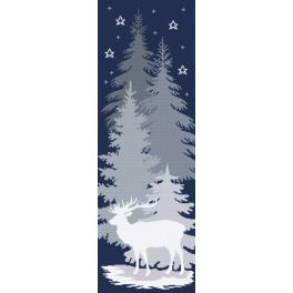 AN 10646 Aida mit Aufdruck - Schneehirsch