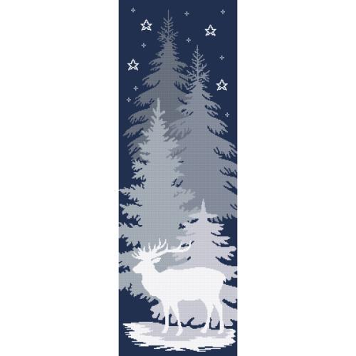 ZN 10646 Stickpackung mit Aufdruck - Schneehirsch