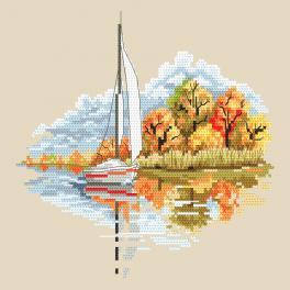 AN 10296 Aida mit Aufdruck - Jahreszeiten - Goldener Herbst