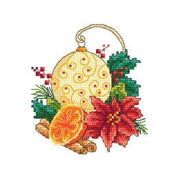 Zählmuster - Weihnachtskugel