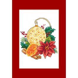 ZU 10299-01 Stickpackung - Karte - Weihnachtskugel