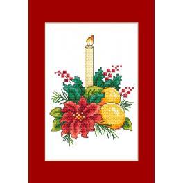 ZU 10298-01 Stickpackung - Karte - Weihnachtsschmuck