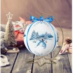 Zählmuster - Weihnachtskugel mit Landschaft