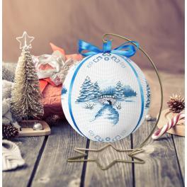 ZU 10301 Stickpackung - Weihnachtskugel mit Landschaft
