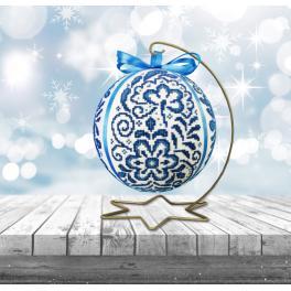 Zählmuster - Porzellanweihnachtskugel