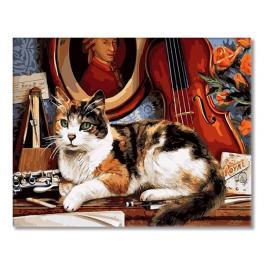 GX4137 Malen nach Zahlen - Katze und Geige