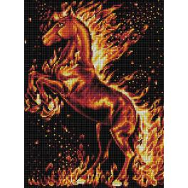 M AZ-1850 Diamond Painting Set - Pferd in Flammen