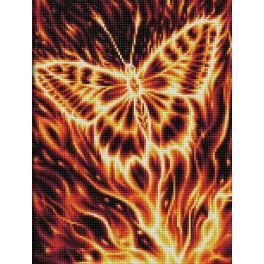 M AZ-1854 Diamond Painting Set - Schmetterling in Flammen
