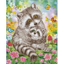 DD9.054 Diamond Painting Set - Süße Waschbären