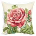 PAPD 7116 Stickpackung - Kissen - Vintage-Rose