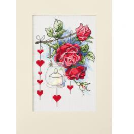 ZU 10303 Stickpackung - Valentinstagskarte mit einer Laterne