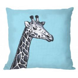 ZU 10657-01 Stickpackung - Kissen - Schwarzweiße Giraffe