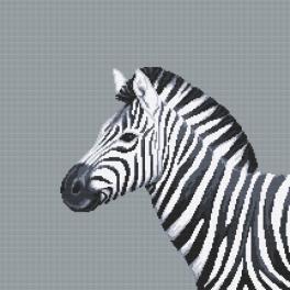 Z 10656 Stickpackung - Schwarzweißes Zebra