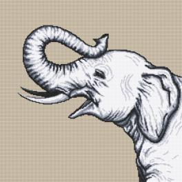 GC 10655 Zählmuster - Schwarzweißer Elefant