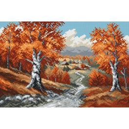 K 4018 Gobelin - Der Herbst - S. Sikora