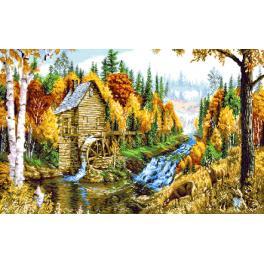 GC 7310 Zählmuster - Landschaft mit einer Mühle