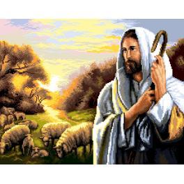 K 7277 Gobelin - Jesus Christus mit Schafen