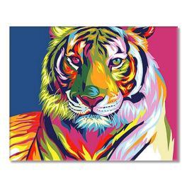 SI Ms7902 Malen nach Zahlen - Regenbogenfarbene Tiger
