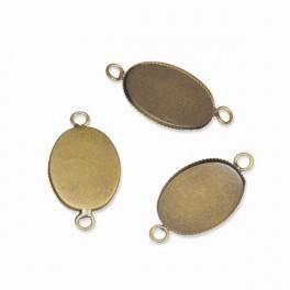 Ovale Medaillonbasis Bronze