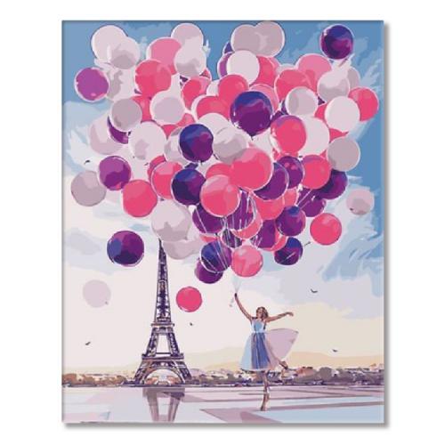 SI Ms7544 Malen nach Zahlen - Mädchen mit Luftballons