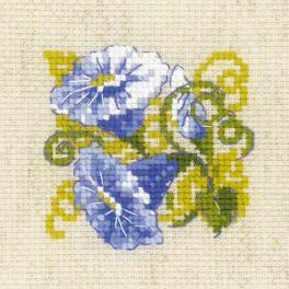 RIO 1842 Stickpackung mit Wollgarn - Violette Waldrebe