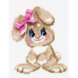 RIO HB105 Stickpackung mit Wollgarn - Kaninchen