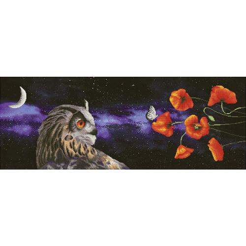 NCP 1501 Stickpackung mit Stickgarn und Hintergrund - Traum des Schmetterlings