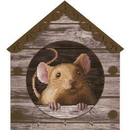 NKO 4044 Stickpackung mit Hintergrund - Mäuschen