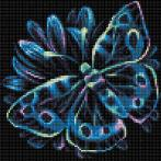 M AZ-1713 Diamond Painting Set - Neonschmetterling