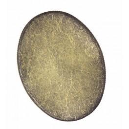 Ovale basis für Brosche Bronze 30x40mm