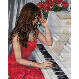 M AZ-1836 Diamond Painting Set - Pianistin