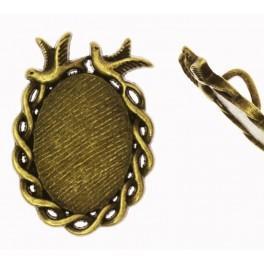 Ovale Medaillonbasis Bronze 19x26mm Litze