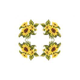 W 10450 Zahlmuster online pdf - Tischdecke mit Sonnenblumen