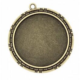 Runde Medaillonbasis Bronze 40mm