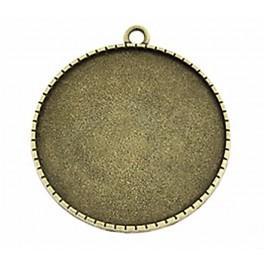 Runde Medaillonbasis Bronze 40mm Blumen