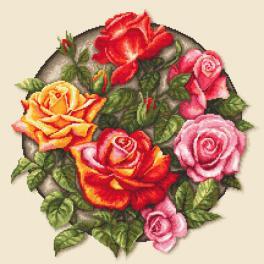AN 10649 Aida mit Aufdruck - Rosen