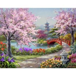 ZTDE 7110 Diamond Painting Set - Japanischer Garten