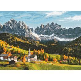 K 10666 Gobelin - Herbstfarbene Berge