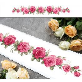 GU 10448 Stickvorlage - Langer Tischläufer mit Rosen