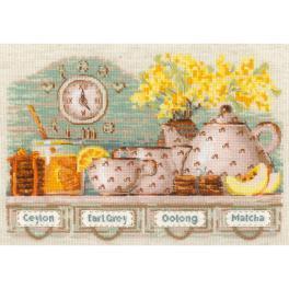 RIO 1873 Stickpackung mit Wollgarn - Zeit für Tee