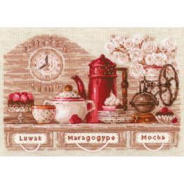 RIO 1874 Stickpackung mit Wollgarn - Zeit für Kaffee