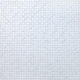 964-54-3542-11 Metallic AIDA 54/10cm (14 ct) weiß-opal - Bogen 35 x 42 cm