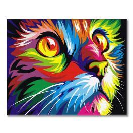 PC4050344 Malen nach Zahlen - Regenbogenfarbene Katze