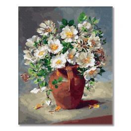 PC4050465 Malen nach Zahlen - Weiße Blumen im Krug