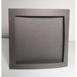 900-14 Große Karte mit quadratischem Passepartout schwarzgrau