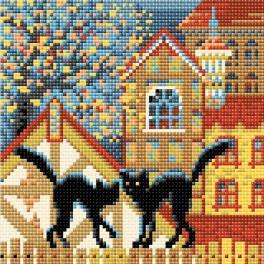 RIO AM0049 Diamond Painting Set - Stadt und Katzen