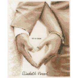 VPN-0187247 Stickpackung - Herz des Brautpaares
