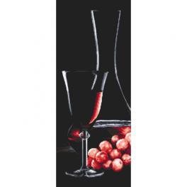 Z 10319 Stickpackung - Roséweinglas