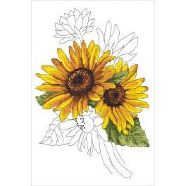 W 10322 stickvorlage ONLINE pdf - Würdevolle Sonnenblume
